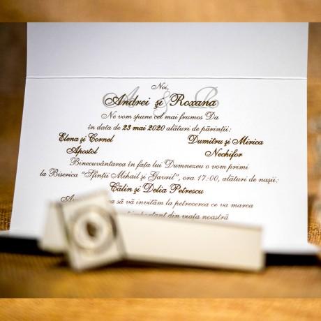 Invitatie de nunta Nonnie Vintage Scrisoare - Scrisoare